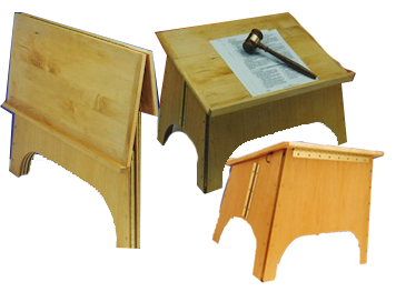 Wooden Stool Table Top Lectern Folding Wooden Tabletop Lectern
